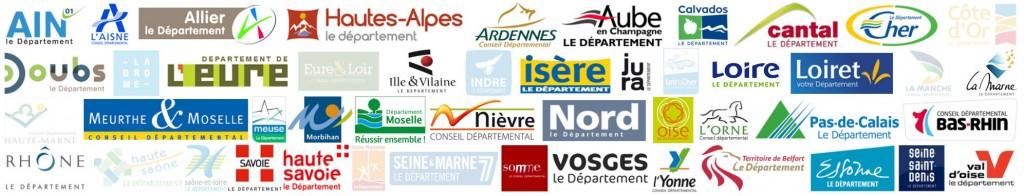 logo de tous les departements adhéré un jour depuis 2000 a Entente-recadré